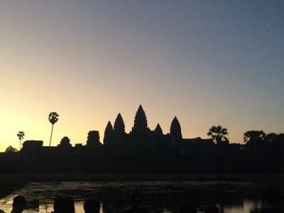 2015 カンボジア・ベトナム_アンコールワット朝日2